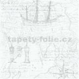 Vliesové tapety na zeď Times mapa světle šedá