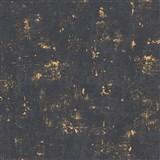 Vliesové tapety na zeď Trendwall omítkovina zlato-černá