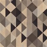 Vliesové tapety na zeď Trendwall moderní grafický vzor hnědo-černý