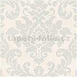 Vliesové tapety na zeď Trendwall barokní vzor stříbrný na krémovém podkladu