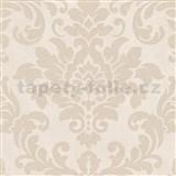 Vliesové tapety na zeď Trendwall barokní vzor zlatý na krémovém podkladu