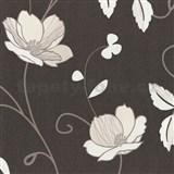 Tapety na zeď Trésor Reloaded - japonské květy - krémové