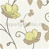 Tapety na zeď Trésor Reloaded - japonské květy - zelené - SLEVA