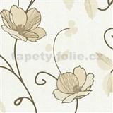 Tapety na zeď Trésor Reloaded - japonské květy - zlaté