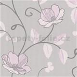 Luxusn� tapety Tr�sor - japonsk� kv�ty - jemn� r�ov�