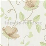 Luxusn� tapety Tr�sor - japonsk� kv�ty - zelenob�ov� - SLEVA