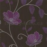 Luxusn� tapety Tr�sor - japonsk� kv�ty - fialov� - SLEVA