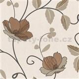Luxusní tapety Trésor - japonské květy - měděné