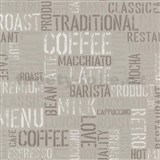 Papírové tapety na zeď Tribute - coffee světle hnědé