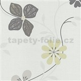 Vliesové tapety na zeď Tribute - květy moderní žluto-hnědé