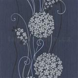 Vliesové tapety na zeď Tribute - květy cibulové tmavě šedé