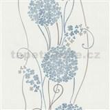 Vliesové tapety na zeď Tribute - květy cibulové modré