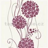 Vliesové tapety na zeď Tribute - květy cibulové červené