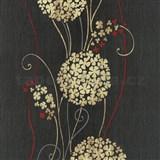 Vliesové tapety na zeď Tribute - květy cibulové okrové