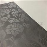 Ubrus metráž květinový vzor hnědý