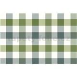 Ubrus metráž kostky zeleno-šedé