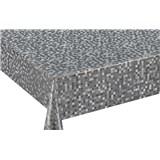 Ubrus návin 20 m x 140 cm metalické kostičky šedo-stříbrné