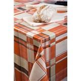 Ubrusy návin 20 m x 140 cm čtverce oranžovo-hnědé