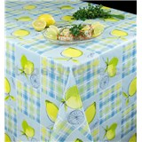 Ubrus metráž modré kostky s citróny