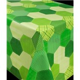 Ubrus metráž geometrický vzor zelený