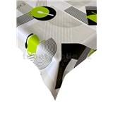 Ubrus metráž káva-bistro zeleno-šedý