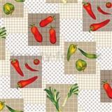 Ubrus metráž papriky červeno-zelené