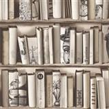 Vliesové tapety na zeď Kaleidoscope knihovna hnědá
