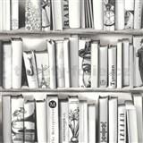 Vliesové tapety na zeď Kaleidoscope knihovna šedá
