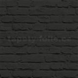 Vliesové tapety na zeď Just Like It cihla černá s nátěrem