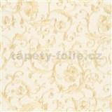 Luxusní vliesové  tapety na zeď Versace III klasický barokní vzor béžovo-zlatý