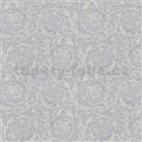 Luxusní vliesové  tapety na zeď Versace IV barokní vzor stříbrno-šedý
