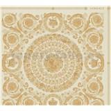 Luxusní vliesové  tapety na zeď Versace IV barokní ornamenty zlato-krémové
