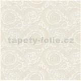 Luxusní vliesové  tapety na zeď Versace III barokní květinový vzor krémový