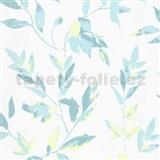 Vliesové tapety na zeď IMPOL Wall We Love 2 listy modro-zelené s metalickým odleskem