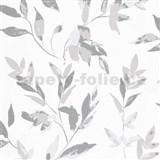 Vliesové tapety na zeď IMPOL Wall We Love 2 listy šedo-stříbrné s metalickým odleskem