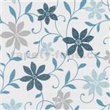 Tapety na zeď Wish květy tyrkysové