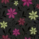 Tapety na zeď Wish květy zeleno-růžové