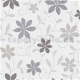 Tapety na zeď Wish květy šedé