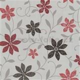 Tapety na zeď Wish květy červené - SLEVA