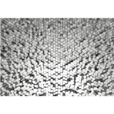 Vliesové fototapety 3D pentagony bílé rozměr 368 cm x 254 cm