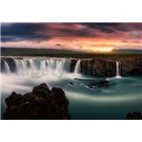 Vliesové fototapety hedvábné vodopády rozměr 368 cm x 254 cm