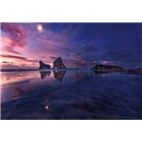 Vliesové fototapety zátoka při západu slunce rozměr 368 x 254 cm