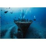 Vliesové fototapety vrak lodi rozměr 368 x 254 cm