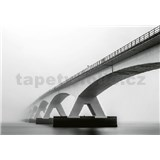 Vliesové fototapety architektura mostu rozměr 368 x 254 cm