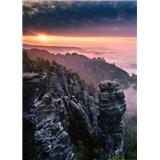 Vliesové fototapety východ slunce ve skalách rozměr 184 x 254 cm