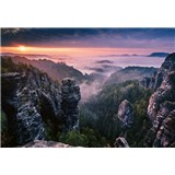 Vliesové fototapety východ slunce ve skalách rozměr 368 x 254 cm
