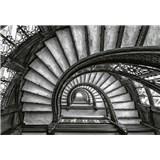 Vliesové fototapety staré schodiště rozměr 368 x 254 cm
