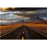 Vliesové fototapety cesta v Atacamě rozměr 368 x 254 cm