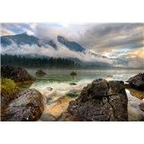Fototapety horské jezero rozměr 368 x 254 cm