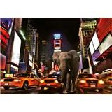 Vliesové fototapety slon v New Yorku rozměr 368 x 254 cm